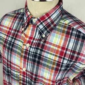 Brooks Brothers short sleeve plaid button down